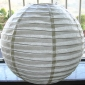 Thick with Thin Ivory Striped paper lanterns