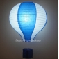 "12""Dark Blue with White Air Balloon Paper Lanterns"