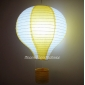 "12"" Yellow with White Air Balloon Paper Lanterns"