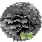 "8"" Tissue Paper Pom Poms Ball - Charcoal Grey(4 pieces)"