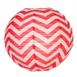 "12"" Red wave lines(Chevron) Paper Lanterns"