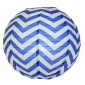 "12"" Dark Blue wave lines(Chevron) Paper Lanterns"