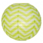 "12"" Chartreuse wave lines Paper Lanterns wholesale ( 150 of case"
