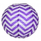 "12"" Purple wave lines(Chevron) Paper Lanterns"