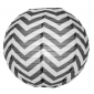 "12"" Black wave lines(Chevron) Paper Lanterns"