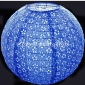 "14"" Eyelet Paper Lanterns-Dark blue"