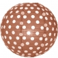 "10"" Polka Dots Brown Paper Lantern"