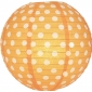 "8"" Polka Dots Orange Paper Lantern"