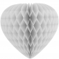 "12"" Paper Honeycomb Heart-white"