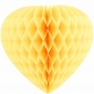 "12"" Paper Honeycomb Heart-Yellow"