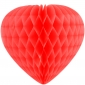 "8"" Paper Honeycomb Heart-Red"