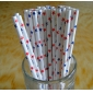 Wholesale White Colors Star Paper Straws(120 bags)