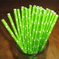 25 pcs Lime Star Paper Straws