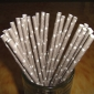 25 pcs Dark Gray Star Paper Straws