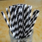 25 pcs Black Stripe Paper Straws