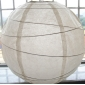 30 Inch Uneven Ribbing Ivory Paper Lanterns