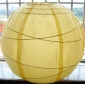 30 Inch Uneven Ribbing Light Yellow Paper Lanterns