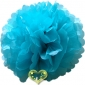"16"" Tissue Paper Pom Poms Ball - Water Blue(4 pieces)"