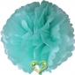 "18"" Tissue Paper Pom Poms Ball -Robin egg (4 pieces)"