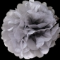 "8"" Tissue Paper Pom Poms Ball - Dove(4 pieces)"