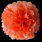 "12"" Tissue Paper Pom Poms Ball - Peach(4 pieces)"
