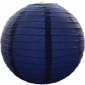 3.5 Inch Even Ribbing Navy Blue Paper Lanterns(10 of pack)
