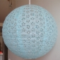 "12"" Eyelet Paper Lanterns-Water Blue"