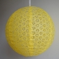 "12"" Eyelet Paper Lanterns-Yellow"