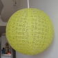 "10"" Eyelet Paper Lanterns-Yellow green"