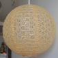 "24"" Eyelet Paper Lanterns-Wheat"