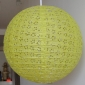 "6"" Eyelet Paper Lanterns-Yellow Green"