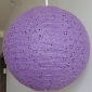"18"" Eyelet Paper Lanterns-Purple"