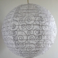 "12""Glitter Spiral Patterned Fabric Lanterns(120 of case)"