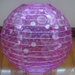 "20""Fuchsia Glitter Dot Fabric Lantern(120 OF CASE)"