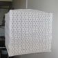 "10""Square Lace Circle Fabric Lantern"