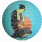 "16"" Japanese GMH Geisha Paper Lantern-Tiffany(150 of case)"