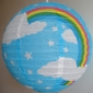 "16""Sky blue Rainbow Paper Lanterns"