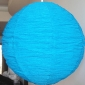 "12"" Diy changing shapes paper lantern-turquoise"