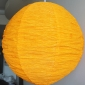 "12"" Diy changing shapes paper lantern-Orange"