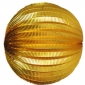 "12"" Gold Accordion Paper Lanterns"