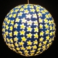 "16""Blue with Yellow plum design Paper Lantern"
