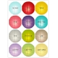 8 Inch 12 colors mixed cross Paper Lanterns