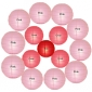 20 Inch Pink & Coral red cross Paper Lanterns(15pcs)