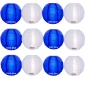 "12"" Irregular Ribbing dark blue w White Nylon Lantern(12 pieces)"
