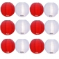 "10"" Irregular Ribbing Red w White Nylon Lantern(12 pieces)"