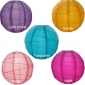 "12"" 5 Colors Irregular Ribbing Nylon Lantern(15 pieces)"