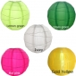 "10"" 5 Colors Irregular Ribbing Nylon Lantern(15 pieces)"