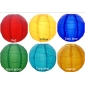 "8"" 6 Colors Irregular Ribbing Nylon Lantern(12 pieces)"