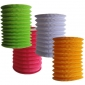 4colors Cylinder Accordion Paper Lanterns(12pcs)