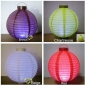 "8"" 4colors 3LED Round Paper Battery Lantern"